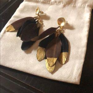 Fun Feathers! Shiver & Duke Dangle Earrings